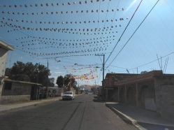 Colorful decorations adorned many of the small towns we passed through